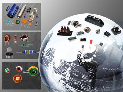Los componentes de la placa de circuito